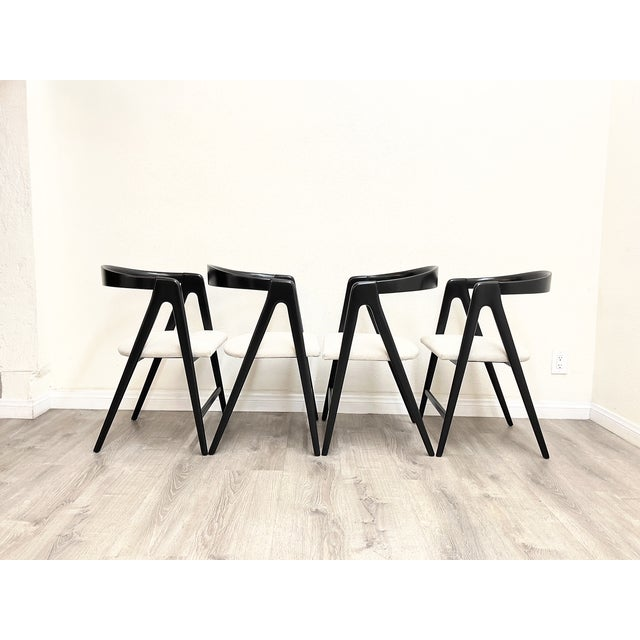 Mid-Century Modern Mid Century Modern Italian Dining Chairs For Sale - Image 3 of 13