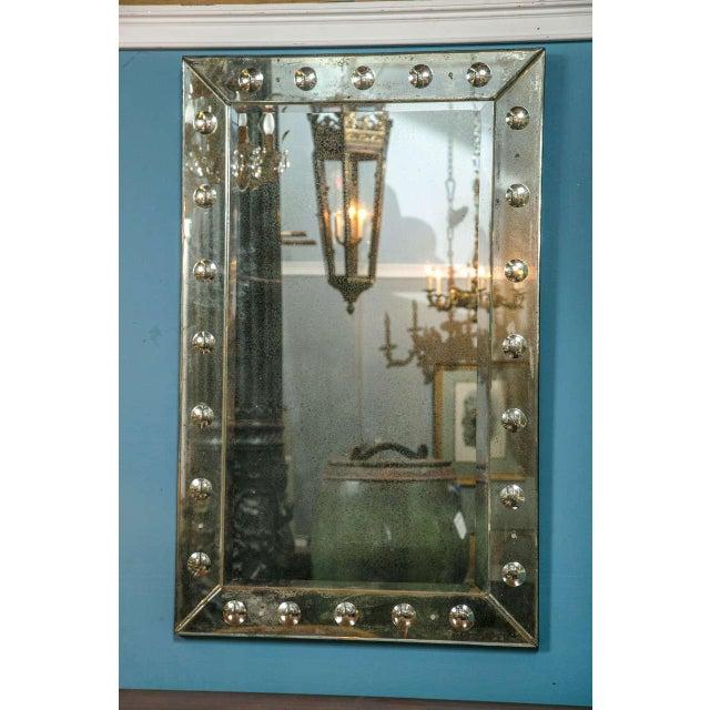 Bullseye Antiqued Framed Venetian Mirrors - Pair - Image 2 of 6