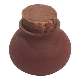 Mini Decorative Terracota Rustic Jar With Cork Stopper For Sale