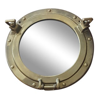 Vintage Brass Porthole Mirror
