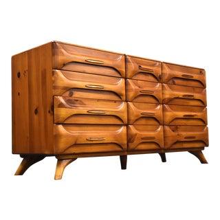 Franklin Shockey Sculptured Pine Dresser For Sale
