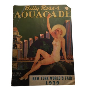1939 Billy Rose's Aquacade Cover Illustration For Sale