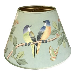 "De Gournay Earlham in Sung Blue 14"" Lamp Shade"