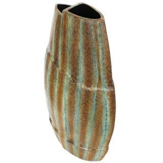 Asymmetrical Snake Skin Wrapped Resin Vase For Sale