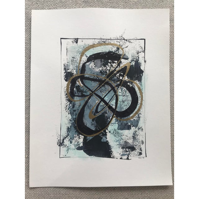 """Modern Original """"Orbits and Comets"""" Mixed Media by Christy Almond For Sale - Image 12 of 12"""