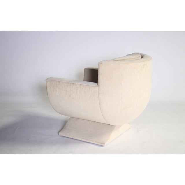 Richard Himmel Upholstered Club Chair For Sale In Chicago - Image 6 of 8