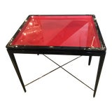 Image of Mid-Century Modern Theodore Alexander Red Black Lacquer Table For Sale
