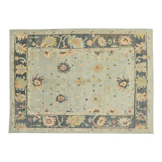 Contemporary Turkish Oushak Rug With Modern Style - 10'03 X 14'02 For Sale