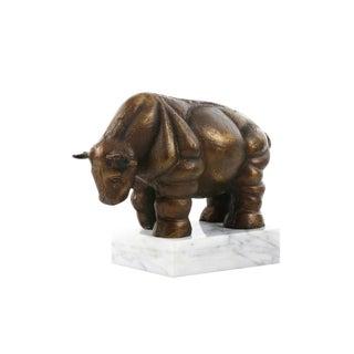 Bungalow 5 Torro Italian Bronze Bull Sculpture For Sale