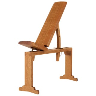 Asa Pingree Tidewalker Quartersawn White Oak Workout Bench With Brass Hardware For Sale