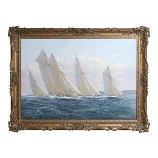 Michael James Whitehand Yacht Race Oil Painting Seascape