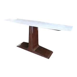 Italian Henredon Furniture David Kleinberg Rene Travertine Top Console Table For Sale