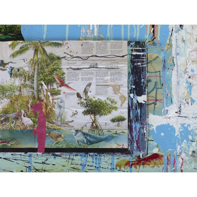"""William P. Montgomery Abstract Mixed Media Painting """"Swamp Talk 1/2"""", 2015 For Sale - Image 4 of 13"""