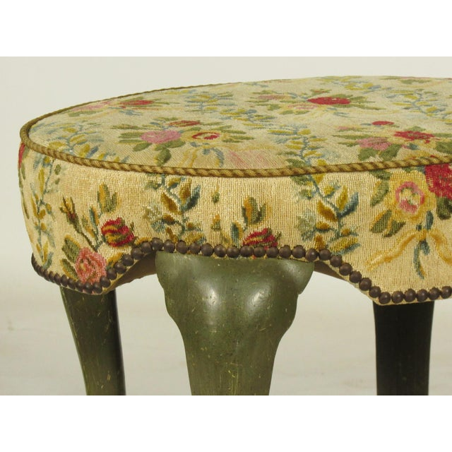 Italian Yale Burge French Painted Stools - a Pair For Sale - Image 3 of 8