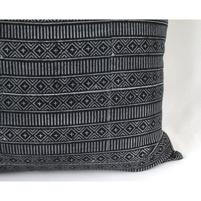 Vintage Geometric Patterned Pillow For Sale - Image 9 of 12