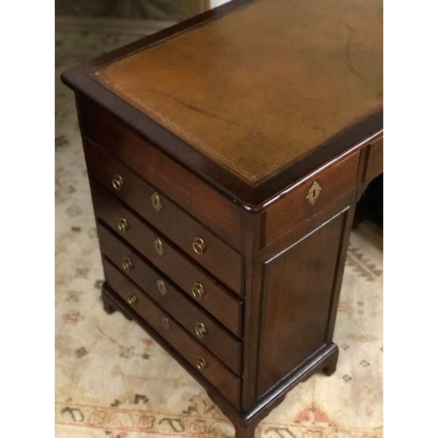 Late 19th Century 19th Century Regency Kneehole Desk of Mahogany For Sale - Image 5 of 12