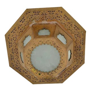 Moroccan Style Two Light Flush Mount Fixture For Sale