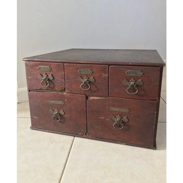 Antique 18th Chippendale Card File Cabinet Trunk For Sale - Image 13 of 13