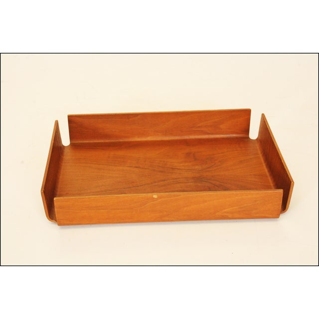 Danish Modern Teak Desk Tray - Image 5 of 11