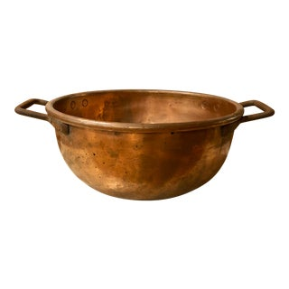 19th Century Rustic Copper Taffy Bowl