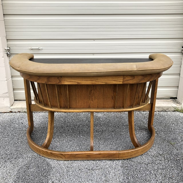 Danish Mid Century Modern Oak Bar For Sale - Image 13 of 13