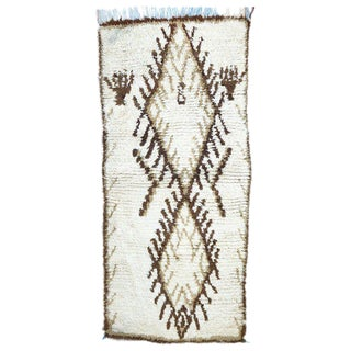 20th Century Moroccan Berber Rug - 2′6″ × 5′5″ For Sale