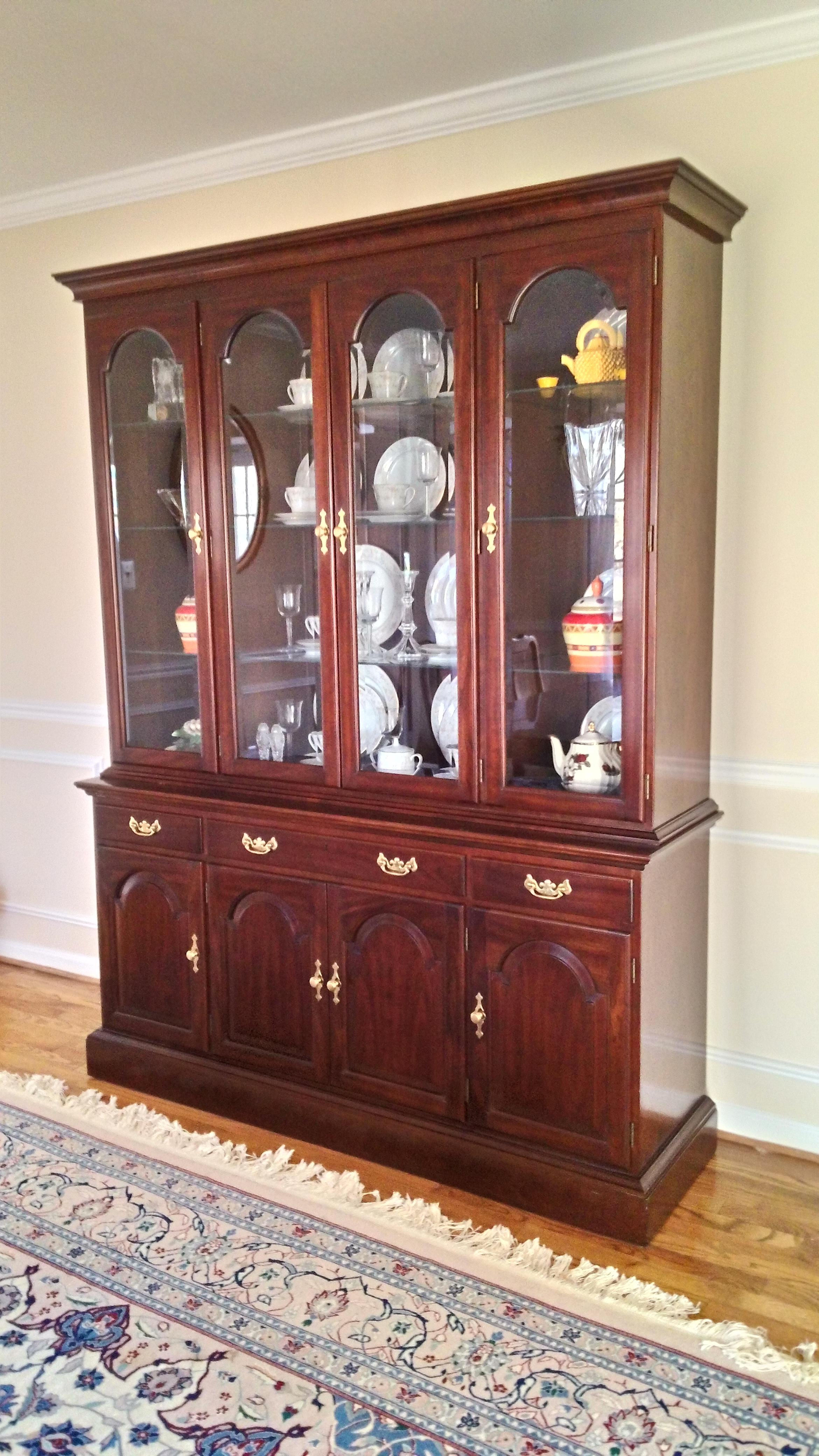 Stickley Solid Cherry China Cabinet   Image 2 Of 5