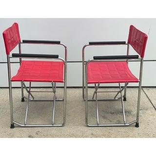 Shigeru Uchida Red Folding X Chairs - a Pair Preview