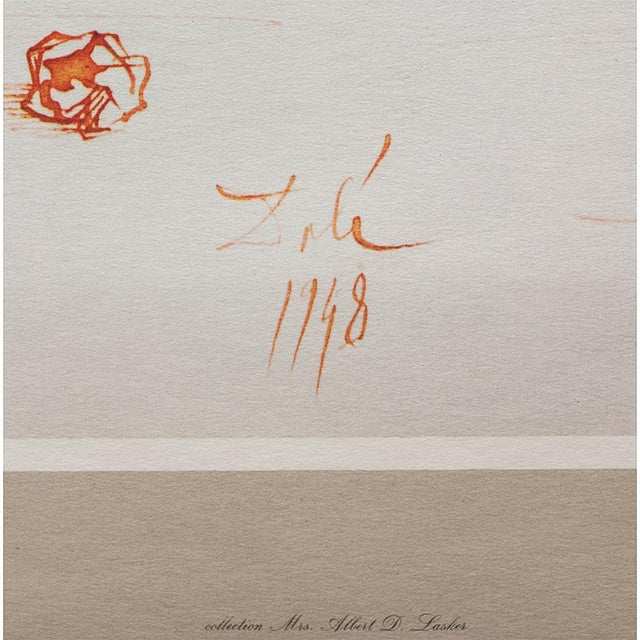 1955 Dali Fruits Original Period Lithograph From the Mrs. Albert D. Lasker Collection For Sale - Image 10 of 13