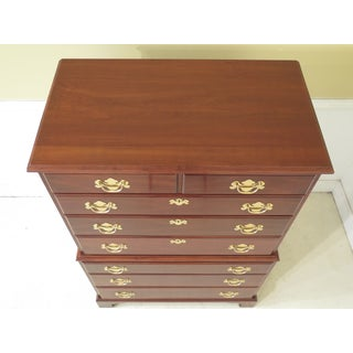 1980s Traditional Fancher Solid Cherry 2 Over 6 Drawer Cherry Chest of Drawers Preview