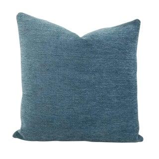 F. Schumacher Como Sky Blue Pillow Cover For Sale
