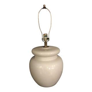 Vintage 1970s White Ceramic Lamp For Sale