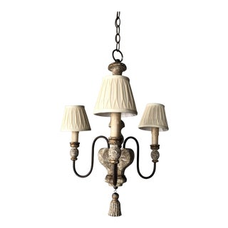 Italian Country Style 3 Light Chandelier For Sale