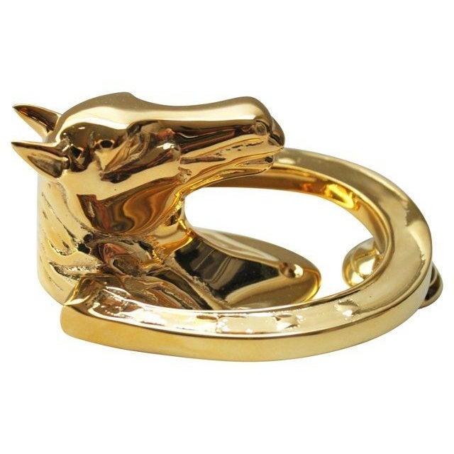 Solid Brass Horse Head Door Knocker - Image 3 of 3