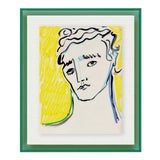 Image of Portrait by Luke Edward Hall in Dark Green Acrylic Shadowbox, Small Art Print For Sale