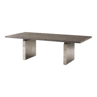 Modern Aged Oak Dining Table For Sale