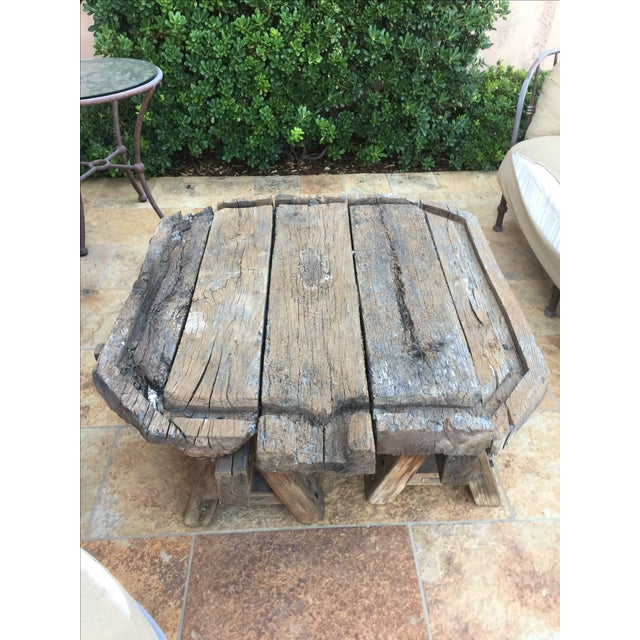 Antique French Wine Press Coffee Table - Image 2 of 3