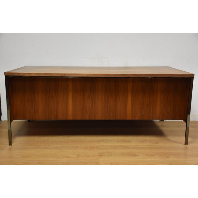 Lehigh Leopold Walnut Executive Desk For Sale - Image 11 of 11