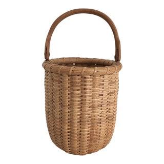 Antique Woven Nantucket Basket For Sale