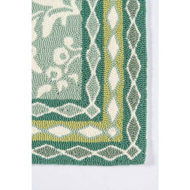 Madcap Cottage Under a Loggia Rokeby Road Green Indoor/Outdoor Area Rug 5' X 8' For Sale - Image 4 of 9