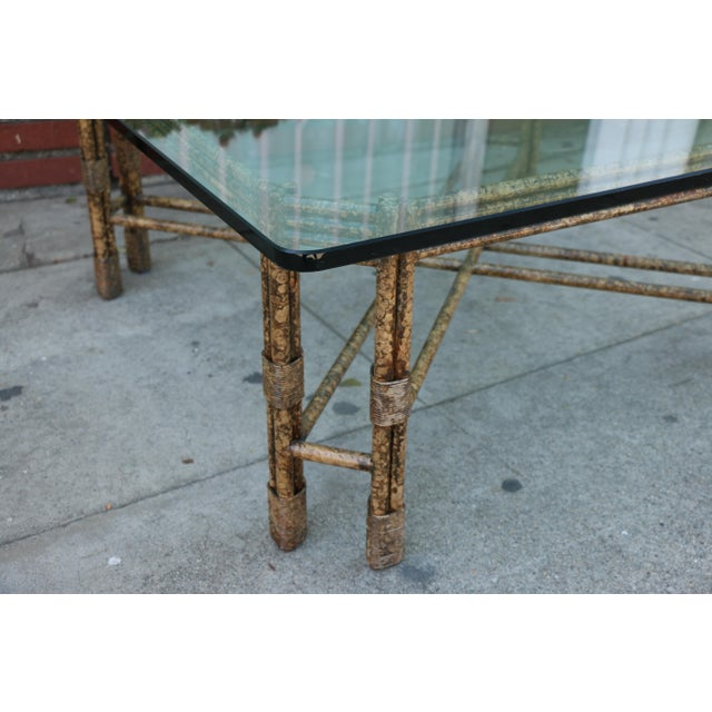 1970s Metal Distressed Rustic Coffee Table For Sale - Image 5 of 10