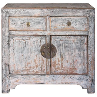 1920s Asian Antique Beijing Gray Chest For Sale