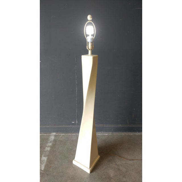A great 80's design. The height to the top of the finial is 62.5'' and the base is 10'' square. The height to the top of...