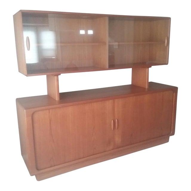Dyrlund Scandinavian Teak Tambour Storage Sideboad & Dislay Cabinet ( 2 Pieces) - Image 1 of 6