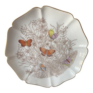 Vintage Butterfly Plate by Fitz and Floyd For Sale