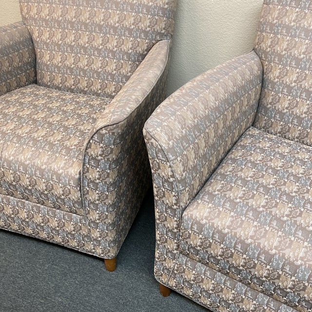 Contemporary Bernhardt Custom Accent Chairs - a Pair For Sale - Image 3 of 13