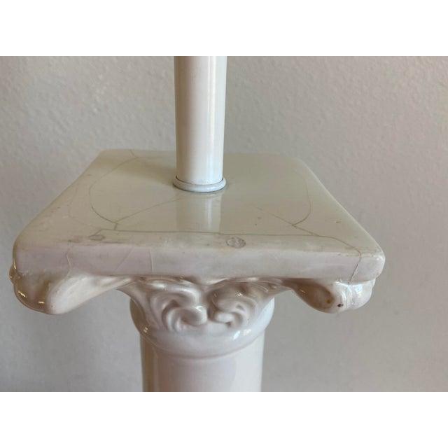 Ceramic 1950s Italian Porcelain Column Lamps - a Pair For Sale - Image 7 of 10