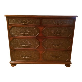 Theodore Alexander Crotch Mahogany & Dark Walnut Chest of Drawers