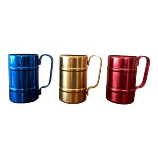 Final Markdown! Mid-Century Emson-Ware Aluminum Mugs - Set of 3 For Sale