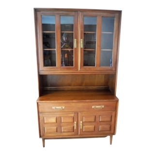 Heywood Wakefield Cherry Credenza & China Cabinet